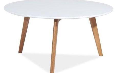 Konferenční stolek MILAN L1 dub/bílá