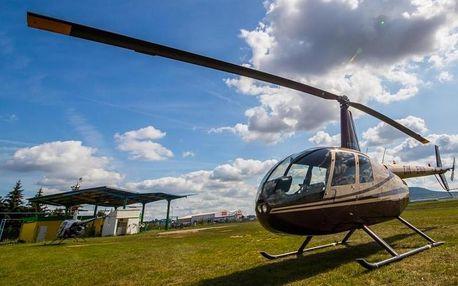 Vyhlídkový let vrtulníkem až na hodinu s parádním výhledem na krajinu