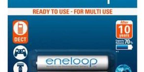 Baterie nabíjecí Panasonic Eneloop AAA, HR03, 750mAh, Ni-MH, blistr 2ks (BK-4MCCE/2BE)