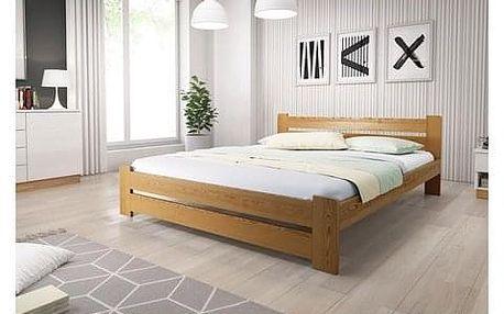 Vyvýšená masivní postel Euro 180x200 cm včetně roštu Dub
