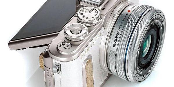 Digitální fotoaparát Olympus E-PL8 + 14-42 Kit stříbrný/bílý (V205081WE000)3