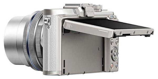 Digitální fotoaparát Olympus E-PL8 + 14-42 Kit stříbrný/bílý (V205081WE000)5