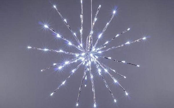 Nexos 33224 Vánoční osvětlení - meteorický déšť - studená bílá, 80 LED, 40 cm3
