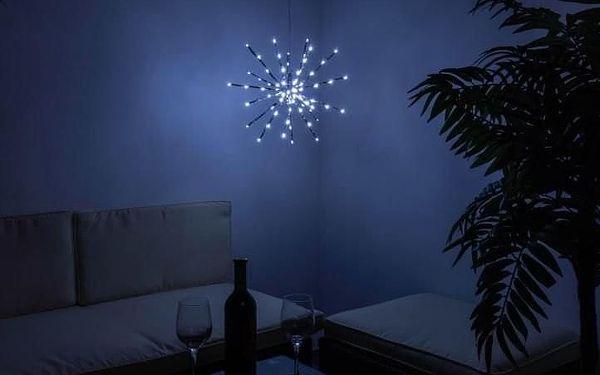 Nexos 33224 Vánoční osvětlení - meteorický déšť - studená bílá, 80 LED, 40 cm5