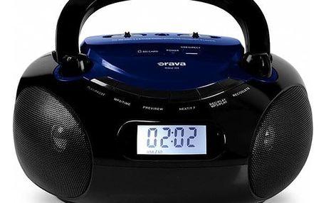 Radiopřijímač Orava RSU-04 černý/modrý