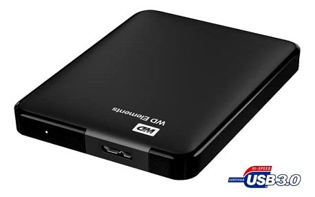 "Externí pevný disk 2,5"" Western Digital Elements Portable 500GB černý (WDBUZG5000ABK-WESN)"