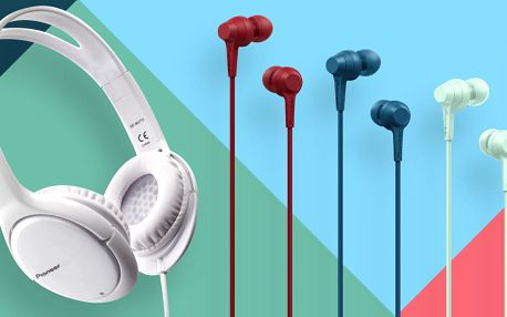 Sluchátka Pioneer: pecky i uzavřená přes uši