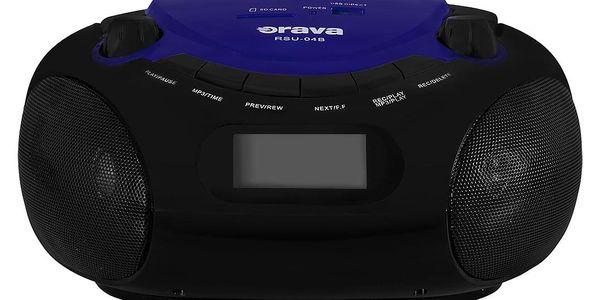 Radiopřijímač Orava RSU-04 černý/modrý3