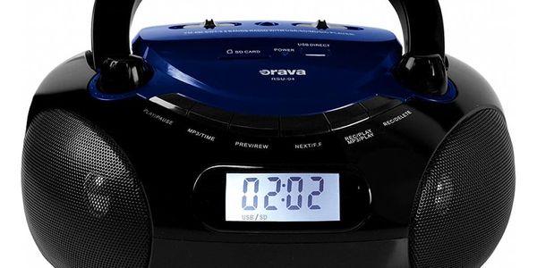 Radiopřijímač Orava RSU-04 černý/modrý5