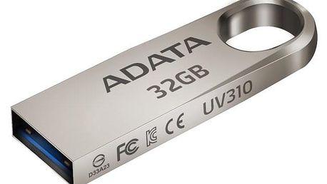 USB Flash ADATA UV310 32GB kovový (AUV310-32G-RGD)