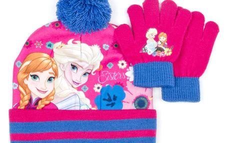 Sada dívčí čepice a prstové rukavice Ledové království - Frozen
