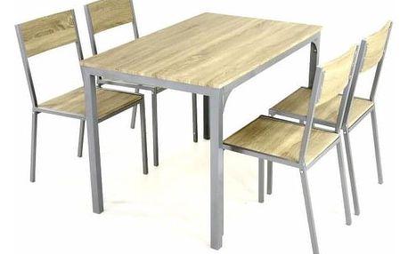 Garthen 38404 Kuchyňská jídelní sestava, stůl a 4 židle