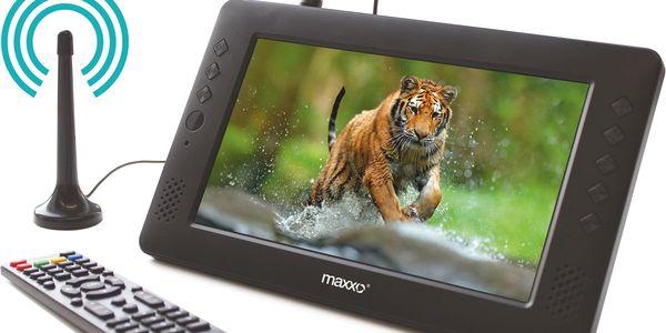 Televize Maxxo mini TV HD – T2 HEVC/H.265 černý + dárek Kabel Maxxo HDMI k TV pro FullHD přenos, 1m černý v hodnotě 289 Kč + DOPRAVA ZDARMA2