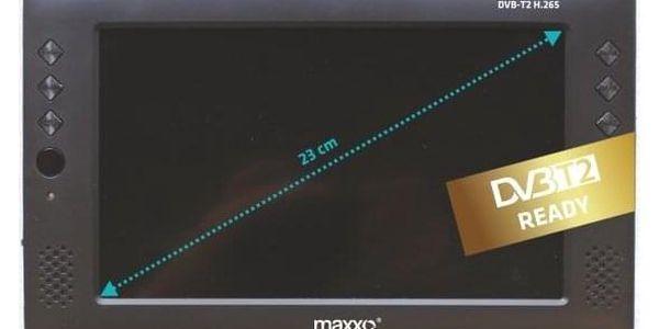 Televize Maxxo mini TV HD – T2 HEVC/H.265 černý + dárek Kabel Maxxo HDMI k TV pro FullHD přenos, 1m černý v hodnotě 289 Kč + DOPRAVA ZDARMA5