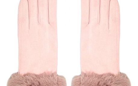 Růžové prstové rukavice Phyllis 603529