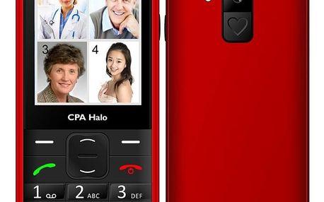 Mobilní telefon CPA Halo 18 Senior s nabíjecím stojánkem červený (TELMY1018RE)