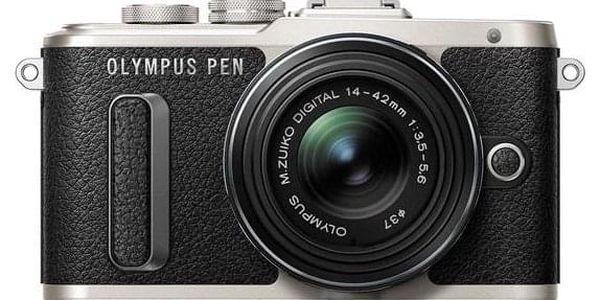 Olympus PEN E-PL8 + 14-42 EZ Pancake černý