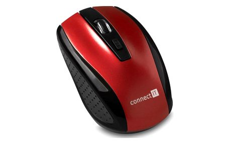 Myš Connect IT CI-1224 červená (/ optická / 4 tlačítka / 1600dpi) (CI-1224)