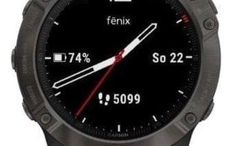 GPS hodinky Garmin fenix6X Sapphire (MAP/Music) černé/šedé (010-02157-11)