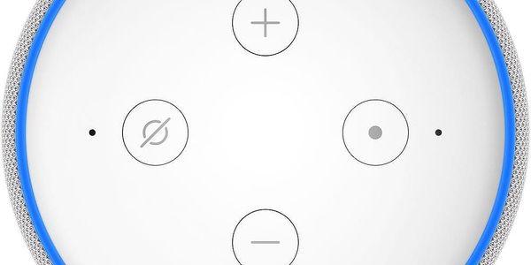 Hlasový asistent Amazon Echo Dot Sandstone (3.generace) bílý + dárek Adaptér C-Tech univerzální, 110 - 230V, EU, US, AU bílý3