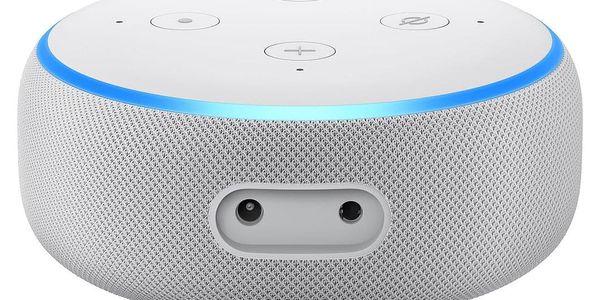 Hlasový asistent Amazon Echo Dot Sandstone (3.generace) bílý + dárek Adaptér C-Tech univerzální, 110 - 230V, EU, US, AU bílý4