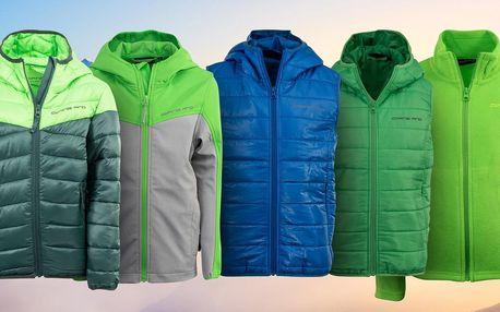 Dětské oblečení Alpine Pro: mikina, vesta i bunda