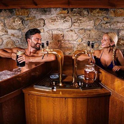 Pivní lázně Karlovy Vary s neomezenou konzumací piva