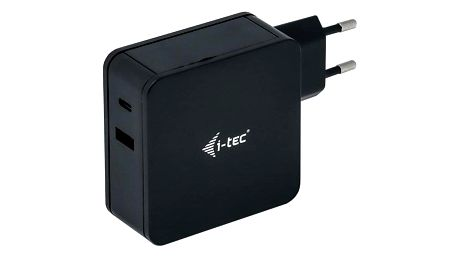i-tec 60W, USB-C, 1,8m, + USB-A 12W černý (CHARGER-C60WPLUS)