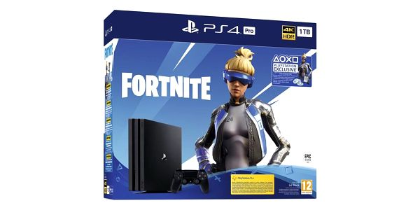 Herní konzole Sony PlayStation 4 Pro 1 TB + Fortnite balíček 2000 V Bucks černá (PS719941101)