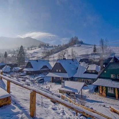 Malá Fatra: Jánošikov dvor v blízkosti skiareálů s polopenzí, saunou a masáží