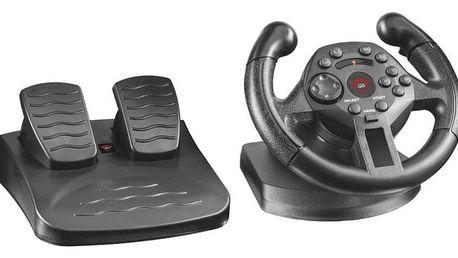 Trust Compact Racing Wheel / 2 pedály / 100° / feedback / 13 tlačítek / USB (21684)