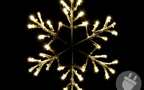 Nexos 42991 Vánoční LED dekorace - sněhová vločka - 30 cm teple bílá