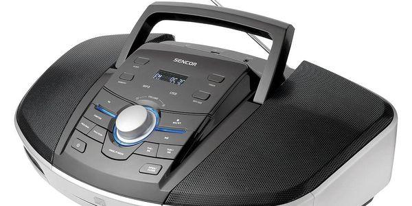 Radiopřijímač s CD Sencor SPT 280 černý/stříbrný2