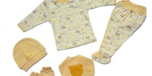 2dílný set pro miminka   Velikost: 6 měsíců   Žlutá4