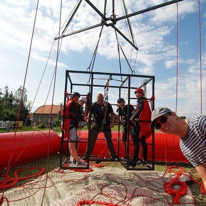 SCAD diving, volný pád z výšky 50 metrů