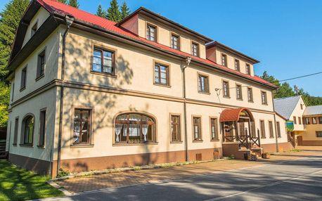 Hotel Salajka v malebné vesničce Horní Lomná s polopenzí