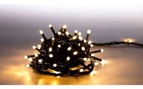 Marimex   Světelný řetěz 100 LED - teplá bílá - zelená   18000058