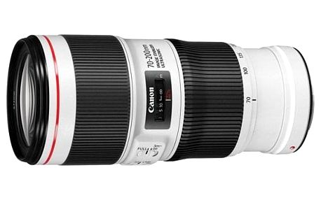 Objektiv Canon EF 70-200 mm f/4.0L USM černý/bílý (2578A013AA)