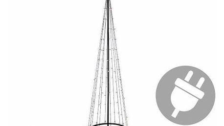 Nexos 47224 Vánoční dekorace - světelná pyramida stromek - 240 cm teple bílá