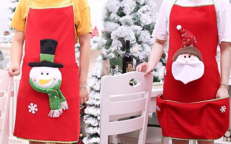 Veselá vánoční zástěra se Santou či sněhulákem