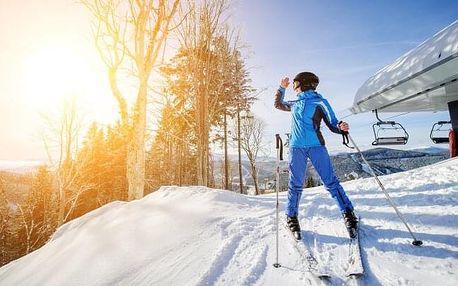 Šumava u skiareálů v Hotelu Zadov *** s polopenzí, vířivkou a saunou