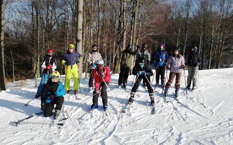 Lyžarský kurz včetně skipasu v Krušných horách