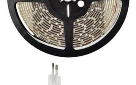LED pásek Solight 4,8 W/m, teplá bílá 3000K, 5m, adaptér s vypínačem (347936)