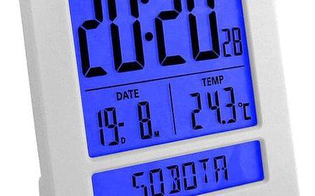 LAR0020 Digitální budík LAVVU Duo White, 9,2 cm