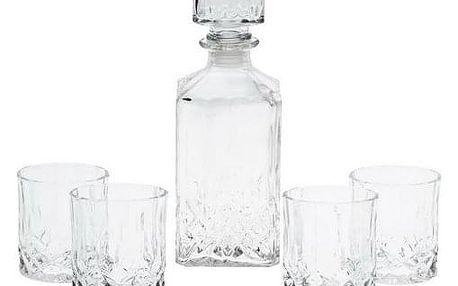 Koopman 5dílná sada karafy a sklenic na whiskey