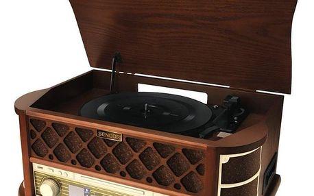 Gramofon Sencor STT 016, RETRO dřevo (35037004)