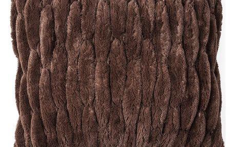 BO-MA Trading Povlak na polštářek chlupatý prošívaný hnědá 45 x 45 cm