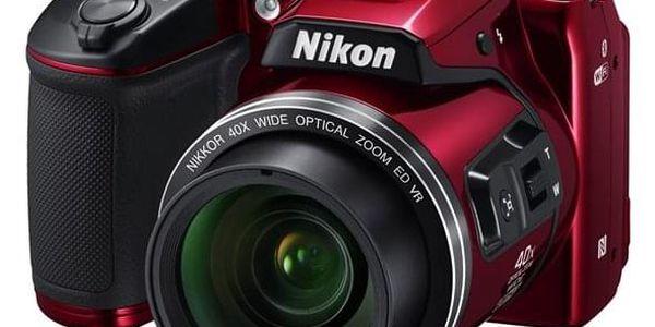 Digitální fotoaparát Nikon Coolpix B500 červený