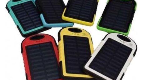 Powerbanka - Solární nabíječka se svítilnou