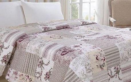 Jahu Přehoz na postel Kytka, 220 x 240 cm